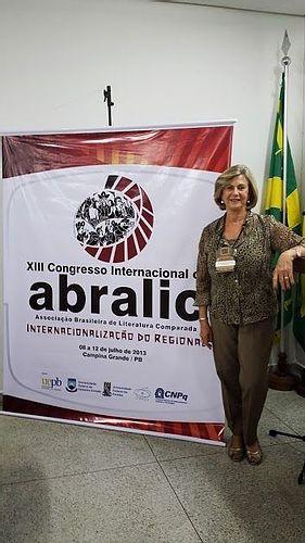 Participação no Congresso da Abralic em Campina Grande em julho 2013.