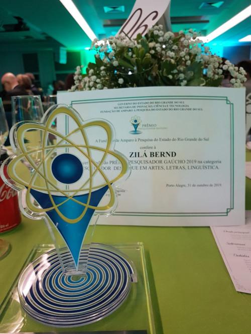 Prêmio pesquisador gaúcho na área de Letras, 2019