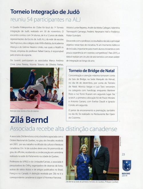 ZIlá Bernd - Associada recebe alta distinção canadense